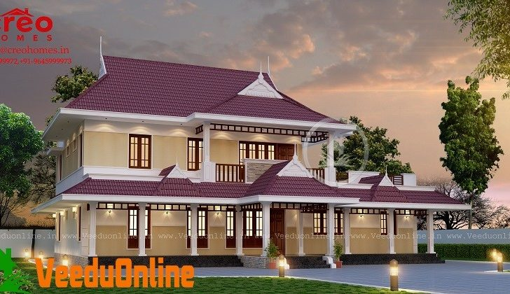 Double Floor Traditional Home Designs