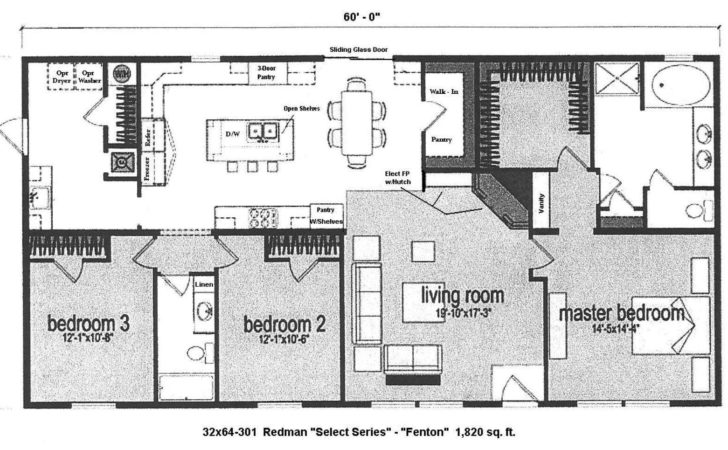 Double Wide Floor Plans Bedroom