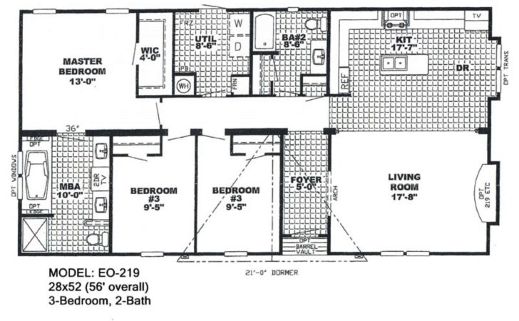 Double Wide Mobile Home Floor Plans Also Bedroom