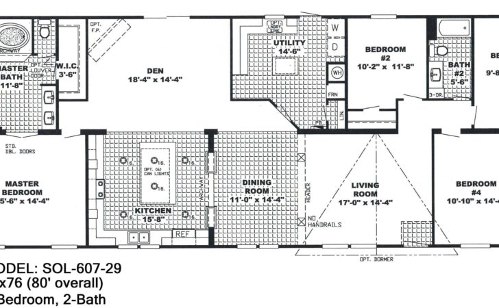 Double Wide Mobile Homes Floor Plans Candresses