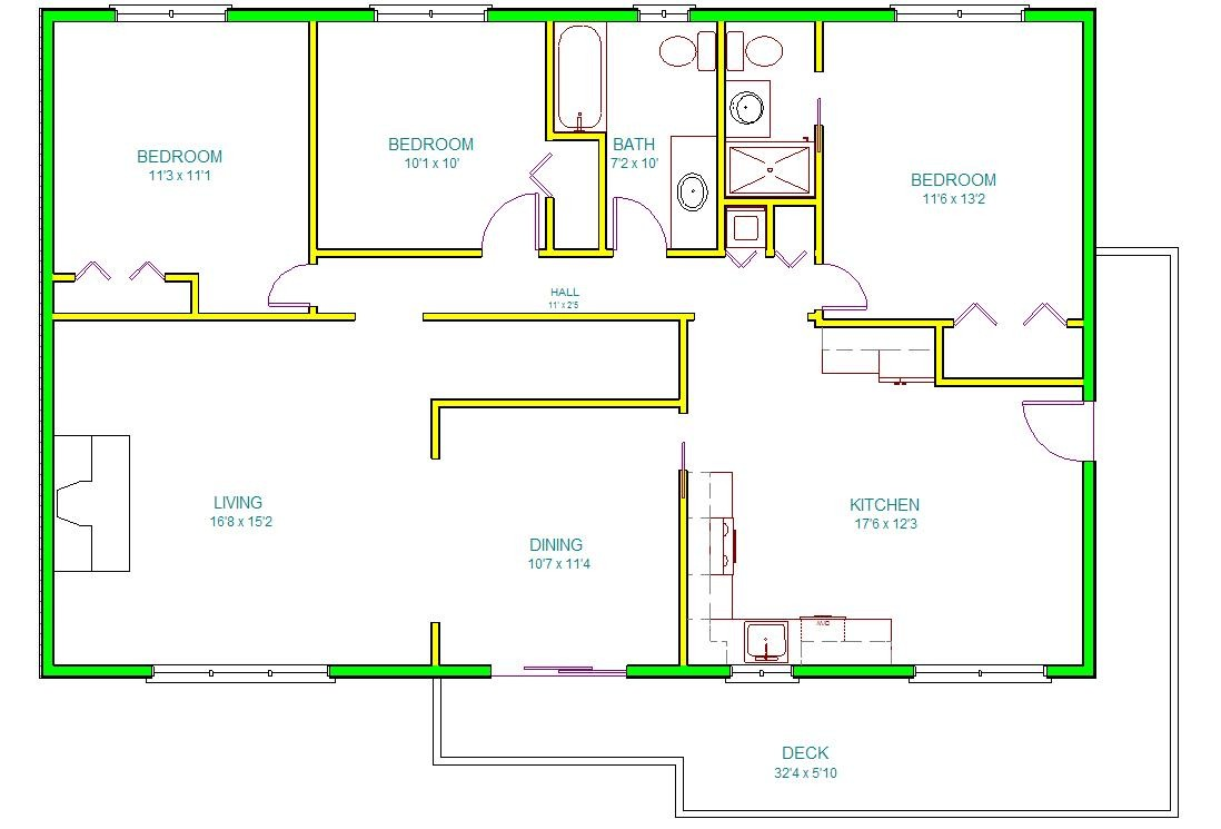 Draw Autocad House Plan Design Ideas