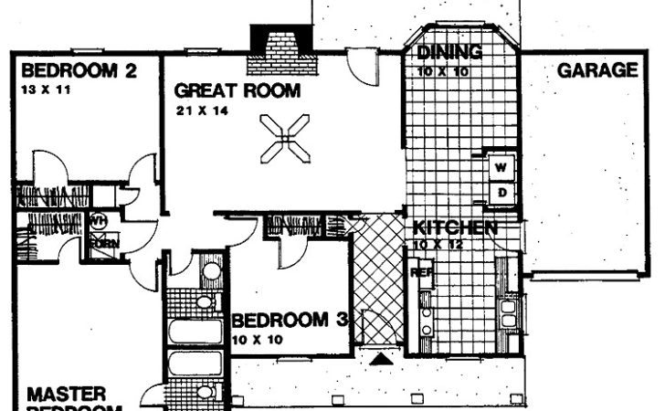 Dream Bedroom Open Floor House Plans Home