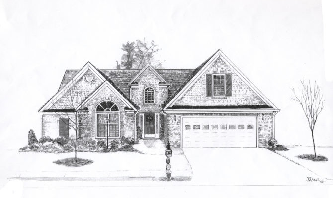 Dream Cool House Drawing Home Building Plans