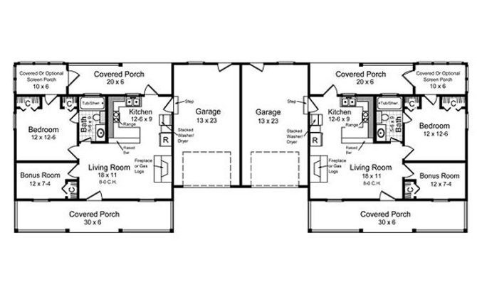 Duplex Floor Plans Single Story House