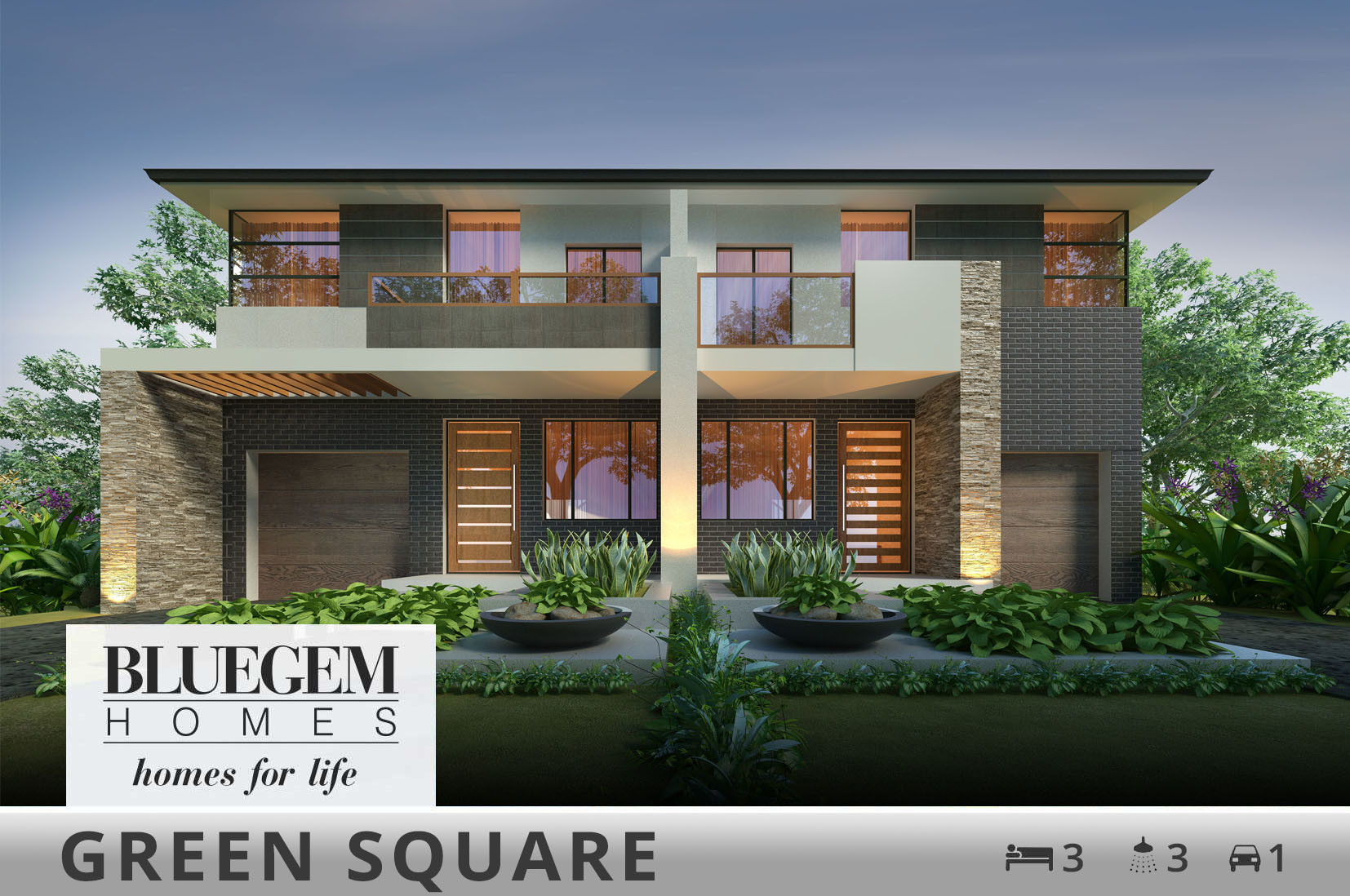 Duplex Home Designs Builders Bluegem Homes