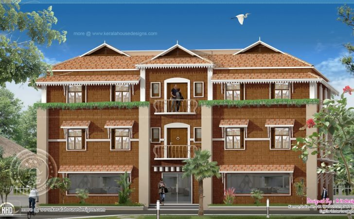Duplex House Elevation Design Kerala Plans