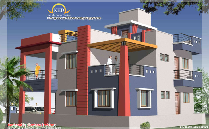 Duplex House Plan Elevation Home
