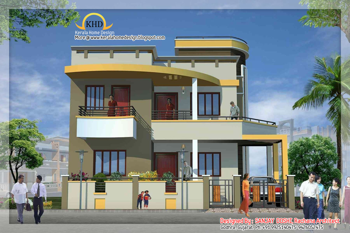 Duplex House Plan Elevation Keralahousedesigns