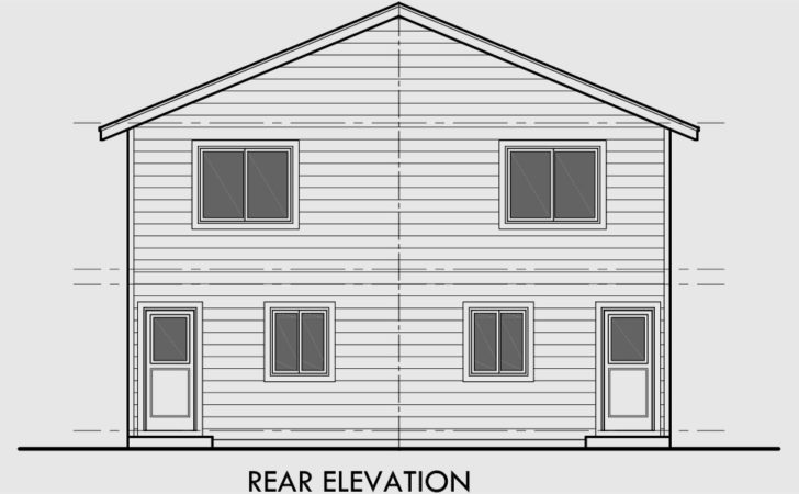 Duplex House Plan Two Story Affordable