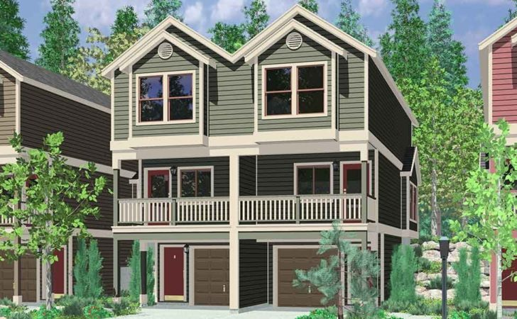 Duplex House Plans Narrow Lots Canada