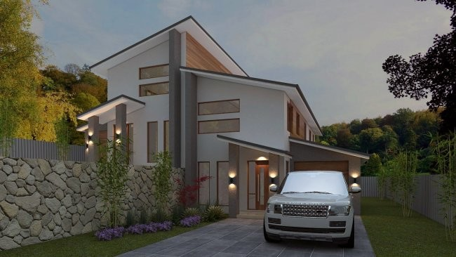 Duplex Townhouse House Plans Split Level Sloping Land