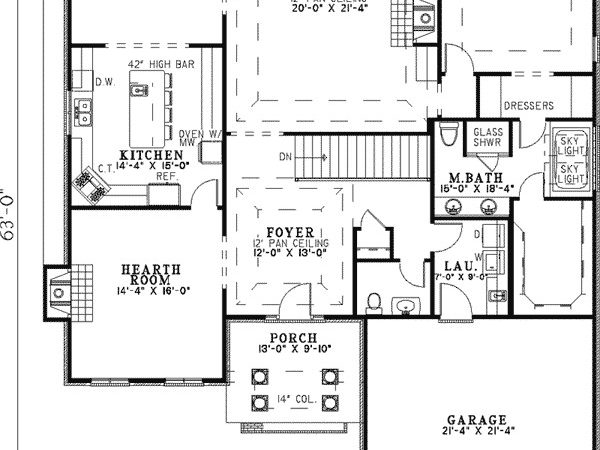 Eastover Southern Ranch Home Plan House Plans