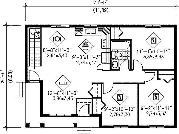 Easy Build Ranch Home Plan Floor Master