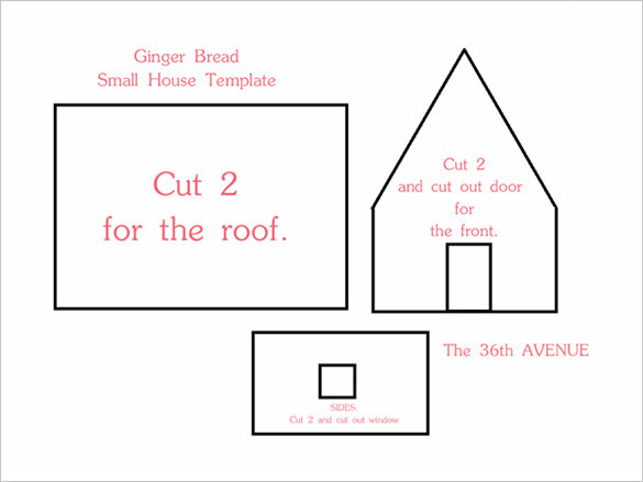 Easy Gingerbread House Recipe Template