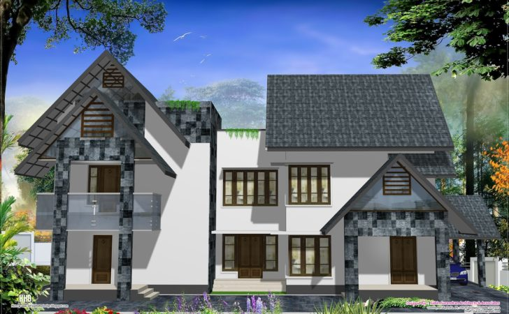 Eco Friendly Houses Western Style Home Design Kerala