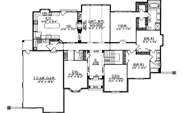 Eleanor Luxury Ranch Home Plan House Plans