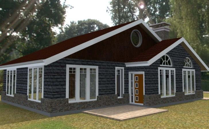 Elegant Three Bedroom Bungalow House Plan David Chola
