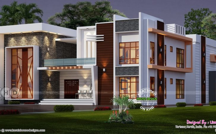 Elevated Contemporary Home Plan Kerala Design