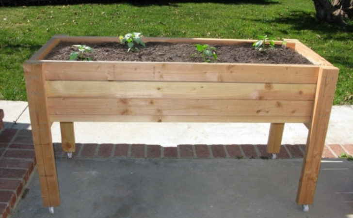 Elevated Planter Boxes Make Wooden
