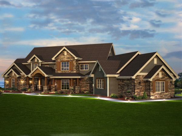Elk Trail Rustic Luxury Home Plan House Plans