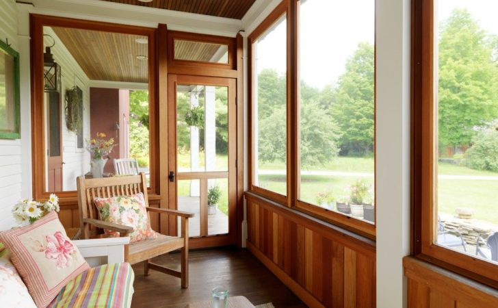 Enclosed Porch Ideas Decorating Exterior Traditional