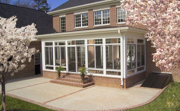 Enclosed Porch Outside Many People Sunrooms