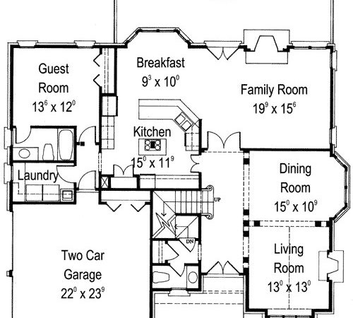 English Manor Home Plan Architectural Designs