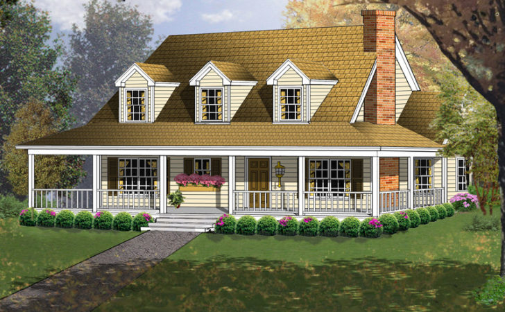 Enjoy Acadian Style House Plans Wrap Around Porch
