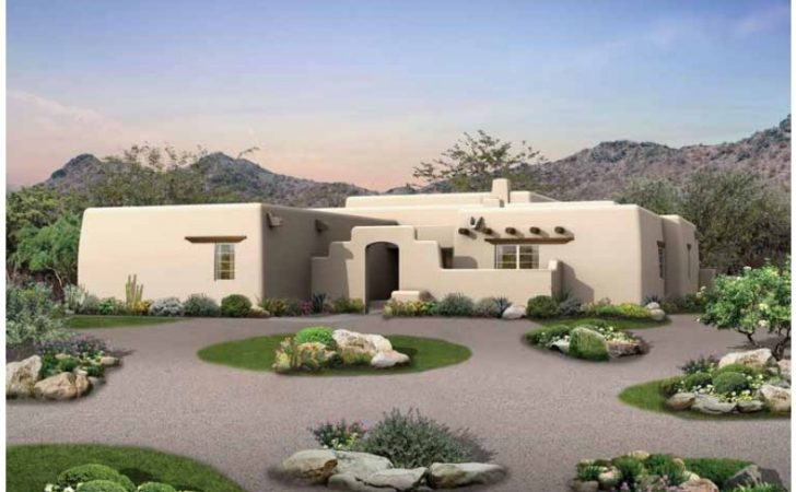Eplans Adobe House Plan Old Style Courtyard