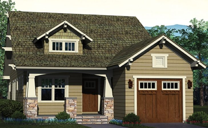 Eplans Bungalow House Plan Charming Narrow Lot