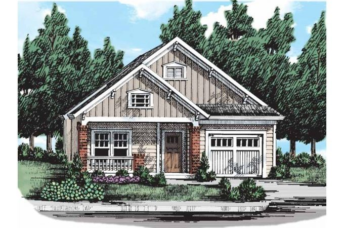 Eplans Bungalow House Plan Narrow Lot Problem Solved