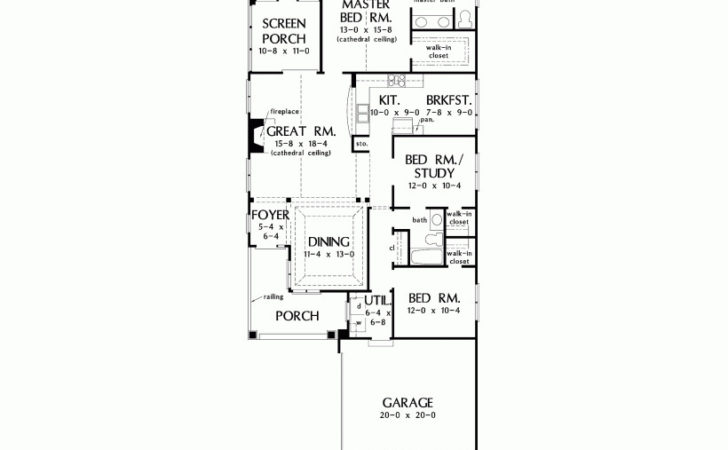Eplans Bungalow House Plan Perfect Narrow Lots