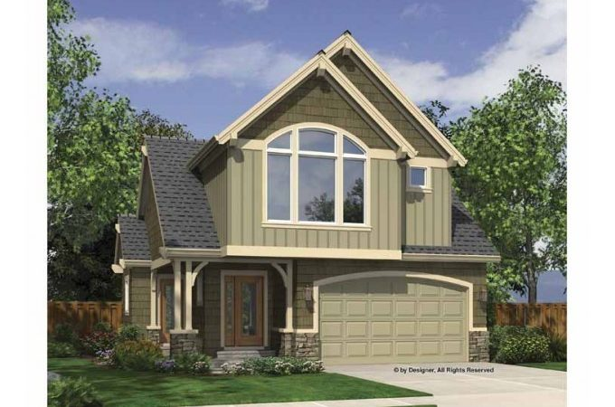 Eplans Cape Cod House Plan Two Story Narrow Lot Home
