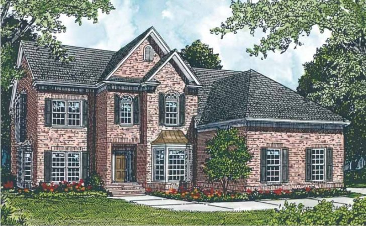 Eplans Colonial House Plan Graceful Brick Exterior