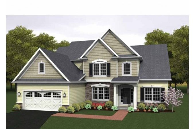 Eplans Colonial House Plan Two Story Great Room