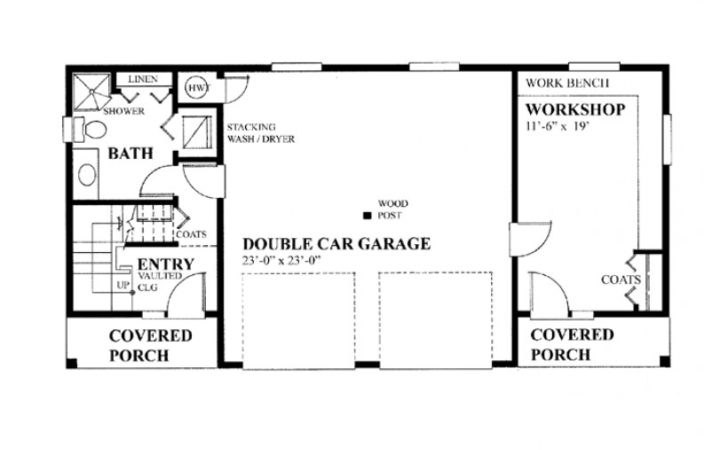 Eplans Contemporary Garage Plan Double