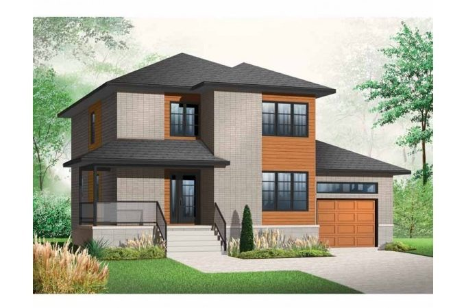 Eplans Contemporary Modern House Plan Three Bedroom