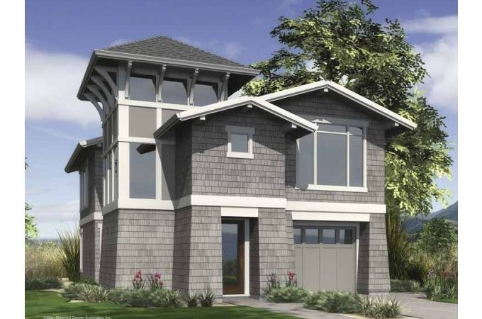 Eplans Contemporary Modern House Plan Urban Infill