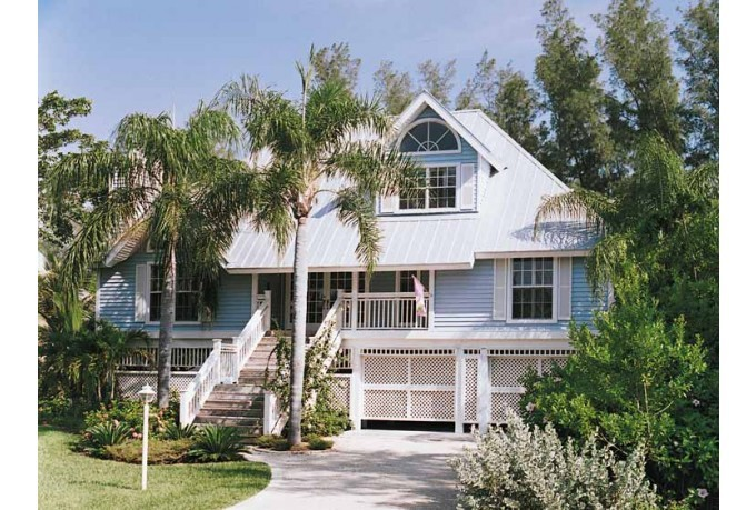 Eplans Cottage House Plan Key West Island Style