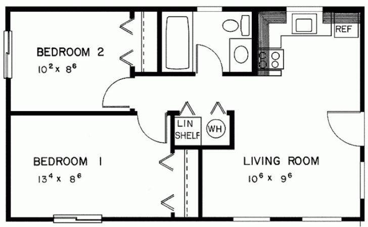 Eplans Cottage House Plan Two Bedroom
