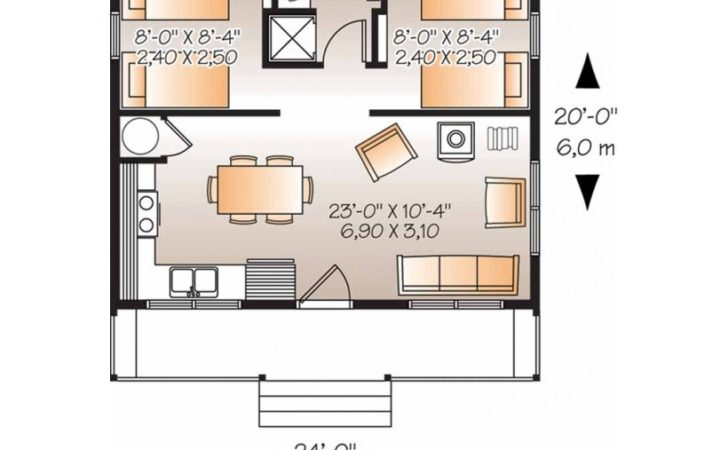 Eplans Country House Plan Two Bedroom