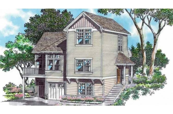 Eplans Craftsman House Plan Just Right Sloping Lot