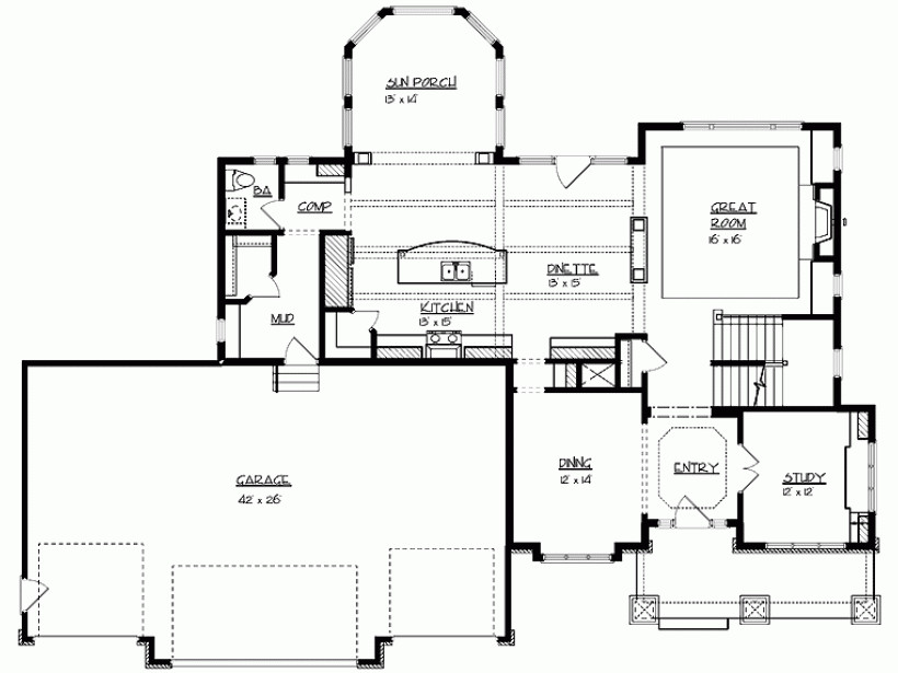 Eplans Craftsman House Plan Stunning Rear