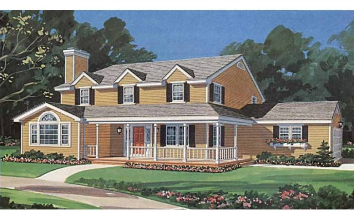 Eplans Farmhouse House Plan Center Hall Colonial