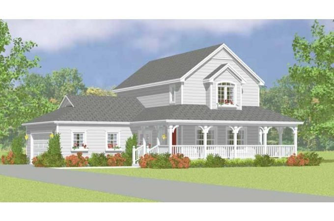 Eplans Farmhouse House Plan Easy Build Two Story