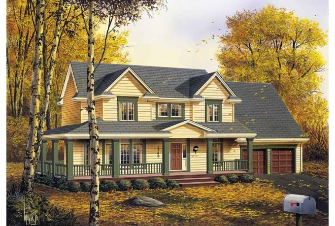 Eplans Farmhouse House Plan Length Great Room