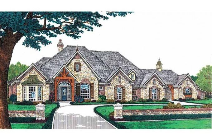 Eplans French Country House Plan Luxury Living