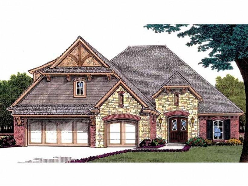 Eplans French Country House Plan Three Bedroom