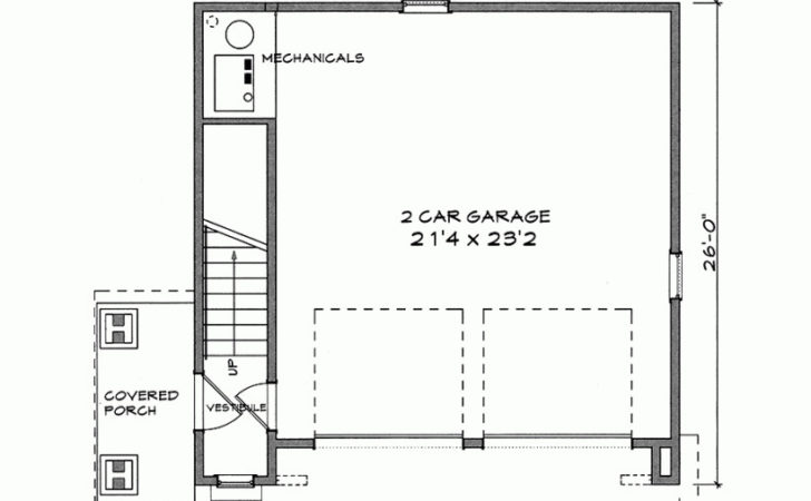 Eplans Garage Plan One Bedroom Square Feet