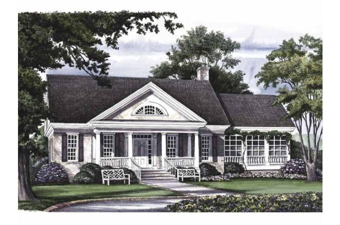 Eplans Greek Revival House Plan Carlyle Square